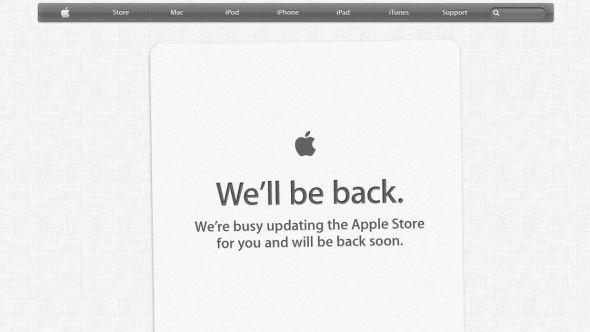 STILLE FØR STORMEN: Apples nettbutikker er i ettermiddag stengt før kveldens produktlansering. Som vanlig forbereder selskapet nettbutikkene slik at forbrukerne kan lese om og bestille de nye produktene kun minutter etter lanseringen.