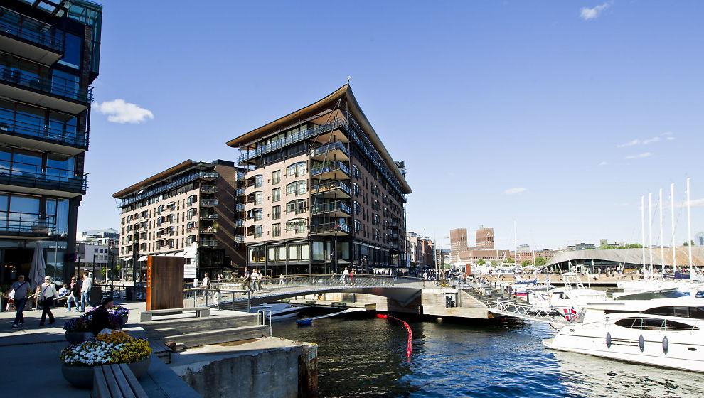 ROSINEN I PØLSA: Aker Brygge er blant landets mest attraktive områder.