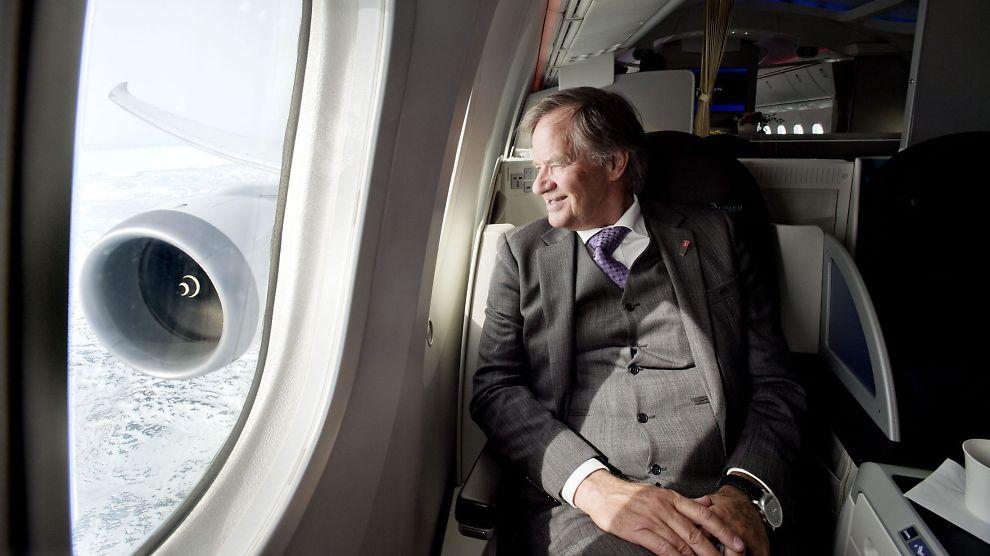 BLIKK MOT BANGKOK: Norwegian-sjef Bjørn Kjos forteller at mannskapet i kabinen og cockpit på den nye Boeing 878 Dreamlineren må bo i Bangkok.