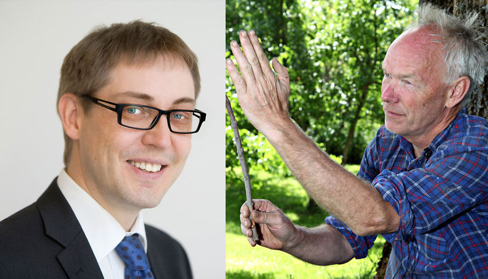 UENIGE OM UTVIKLINGEN: Statssektetær Raimo Valle fra Arbeiderpartiet og finanspolitisk talsmann Per Olaf Lundteigen fra Senterpartiet.