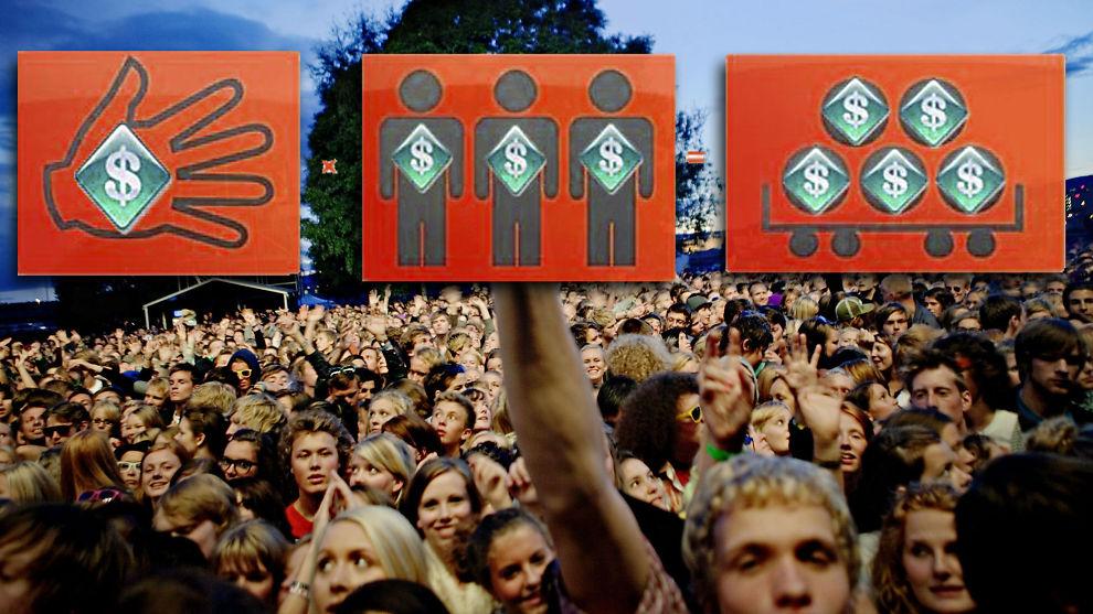 PENGER FRA FOLKET: Små bidrag blir til store beløp. Crowd-investing sprer seg over hele verden, og vil gjøre menigmann til investor.