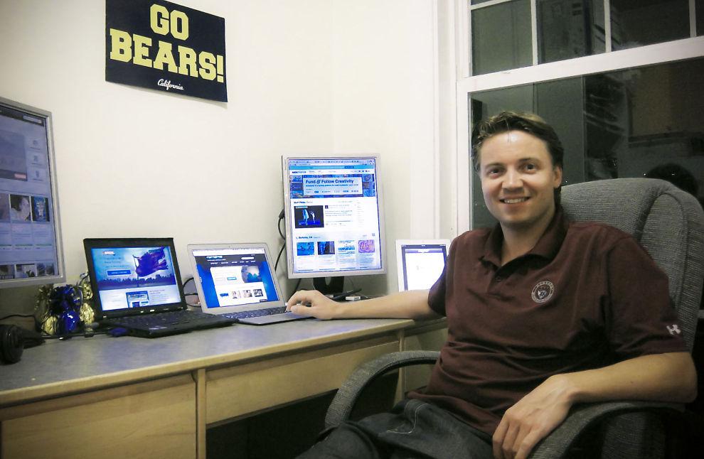 <p><b>SKEPTISK:</b> Lars Rune Føleide tar for tiden en doktorgrad i entreprenørskap ved Berkeley. Han forventer skandaler innen crowdfunding.<br/></p>