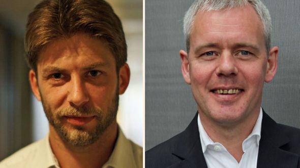 <p><b>SATSER NYTT:</b> Leder forretningsutvikling Thomas Isegg i AAA Soliditet AS (til venstre) og ansvarlig redaktør Per Valebrokk i E24 mener mange vil ha nytte av E24 Bedrift.<br/></p>