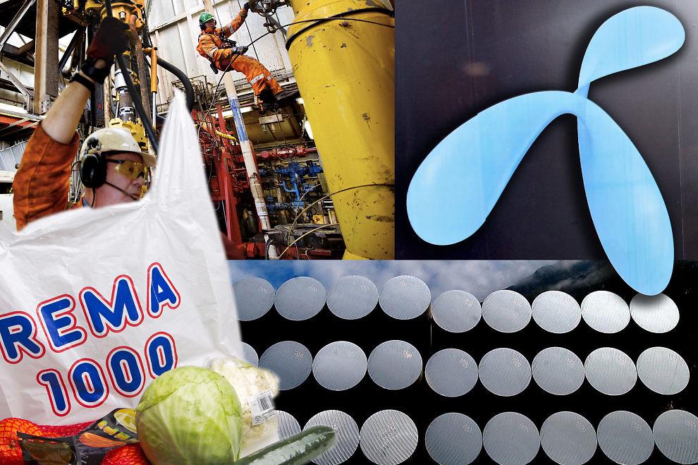 <p><b>GOD BLANDING:</b> Det er oljegiganten Statoil ASA som regjerer øverst på listen over landets største selskaper, men også selskaper i helt andre næringer har klart å klatre opp blant topp ti.</p>