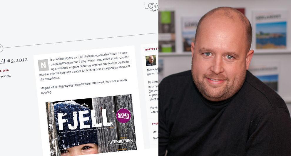 <p><b>Bruker gratisnettsider:</b> Designeren Morten Stensland Løwe fra Lom bruker gratisnettsiden Tumblr til å presentere sin bedrift.</p>