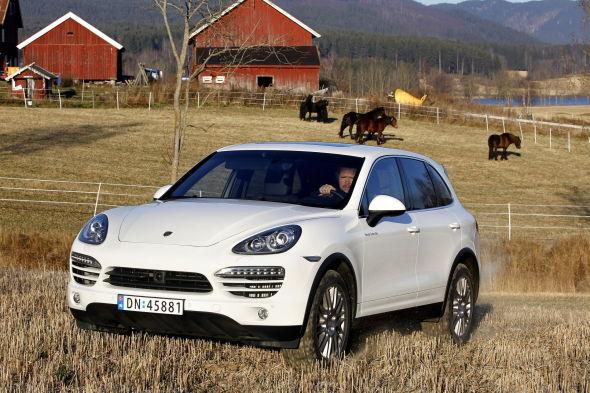 <p>Denne bilen, en to år gammel Porsche Cayenne, er blant de mest populære bilene hos Sandven i Bergen.<br/></p>