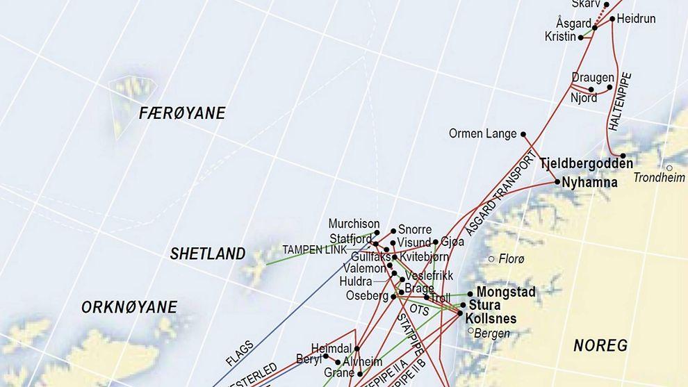 <p><b>STOPPER HALVVEIS:</b> Dagens gassinfrastruktur på sokkelen stopper i Norskehavet. Eksperter mener at Gassco nå får fritt spillerom til å planlegge en rørledning fra Barentshavet.</p>