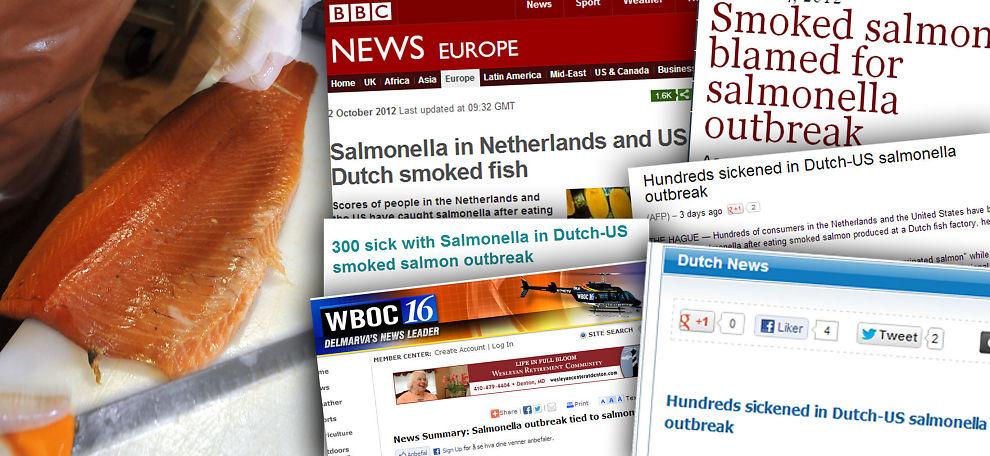 <p>TILBAKEKALLES: Hundrevis skal ha blitt syke etter å ha spist norsk røkelaks solgt i USA og Nederland. Saken har vakt oppmerksomhet verden over.</p>