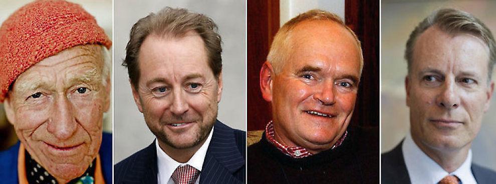 <p><b>TOPPER LISTEN:</b> Johan H. Andresen, Kjell Inge Røkke, Trond Mohn og Olav Thon betalte til sammen 486 millioner kroner i skatt i fjor. 362 millioner av dette var formuesskatt.<br/></p>