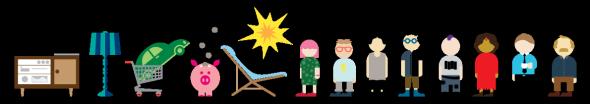 <p><b>MANGE FARGER:</b>Ved bruk av fargerike illustrasjoner ønsker Gjensidige å fremstå både mykere og varmere.<br/></p>