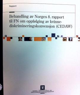 <p>FN REFSER NORGE: Ifølge denne rapporten bør Norge innføre samboerlov som sikrer samboere økonomisk vern i Norge. Rapporten er ennå ikke tilgjengelig på Barne- og likestillingsdepartementets nettsider.</p>