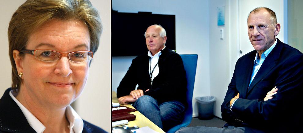 <p><b>FJERNET:</b> Direktør Anne Strømmen Lycke er nå ute av Gassnova. Til høyre direktør Ole Rønning og administrerende direktør Bjørn-Erik Haugan.</p>