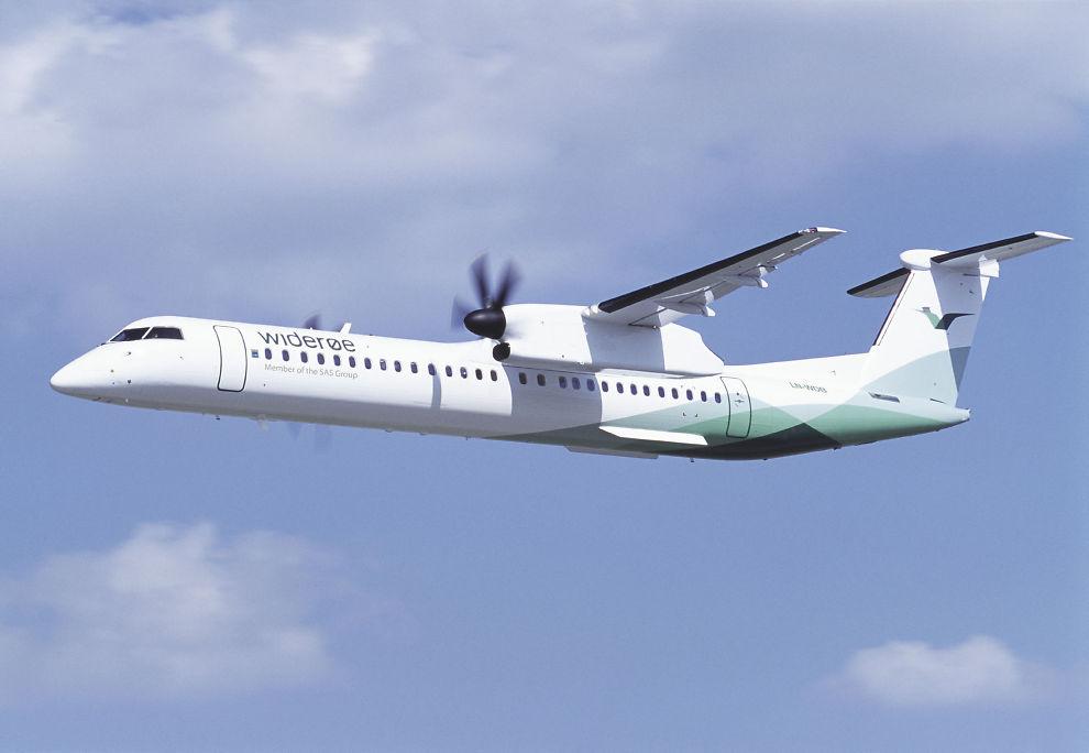 <p><b>KAN BLI OFRET:</b> Flyselskapet Widerøe kan bli ofret av SAS for at selskapet skal overleve. En gruppe investorer og de ansatte står fortsatt klare til å tas over selskapet. Her er en av Widerøes Dash 8 Q400-fly fra Bombardier på vei.<br/></p>