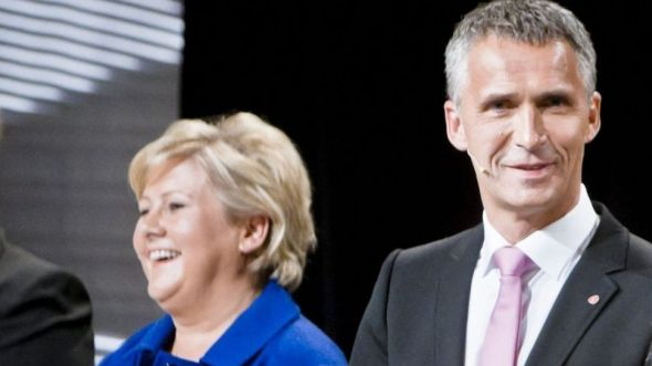 <p><b>I SKATTEDEBATT:</b> Erna Solberg og statsminister Jens Stoltenberg diskuterte skatt på NRK, men eksemplene Solberg ga til Stoltenberg stemmer ikke.<br/></p>