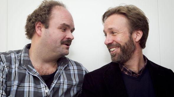 <p><b>KANALFJES:</b> Atle Antonsen (tv) med serien «NAV» og Thomas Giertsen med serien «Helt perfekt».<br/></p>