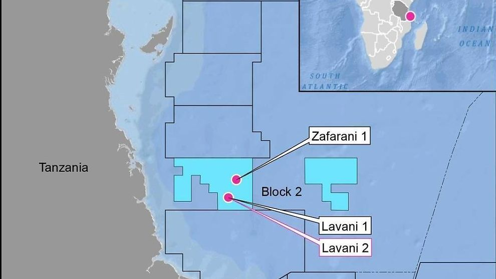 <p><b>TRE FUNN:</b> Lavani-2-brønnen ble boret til en samlet dybde på 5270 meter på 2580 meters vanndyp. Brønnen ligger om lag fem kilometer sørøst for Lavani-1-funnet, og 20 kilometer sør for Zafarani-1-brønnen.</p>