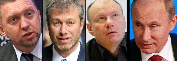 <p><b>GOD FOR 49 MILLIARDER:</b> Oleg Deripaska har kranglet med Vladimir Potanin i flere år om kontrollen over Norilsk Nickel. Nå får ha viljen sin: konsernsjefen må gå. <b>GOD FOR 67 MILLIARDER:</b> Roman Abramovitsj, best kjent som Chelsea-eier, har et godt forhold til Vladimir Putin. Det er trolig grunnen til at han er trukket inn som fredsmegler mellom de andre milliardærene <b>. GOD FOR 80 MILLIARDER:</b> Vladimir Potanin, som nå overtar jobben som toppsjef i Norilsk Nickel. Han bygger også mange av OL-anleggene i Sotsji. <b>SENTRAL?</b> Vladimir Putin ønsket ro i Norilsk Nickel-konsernet. Det spekuleres i om Kreml var sentral i å løse konflikten mellom supermilliardærene.</p>