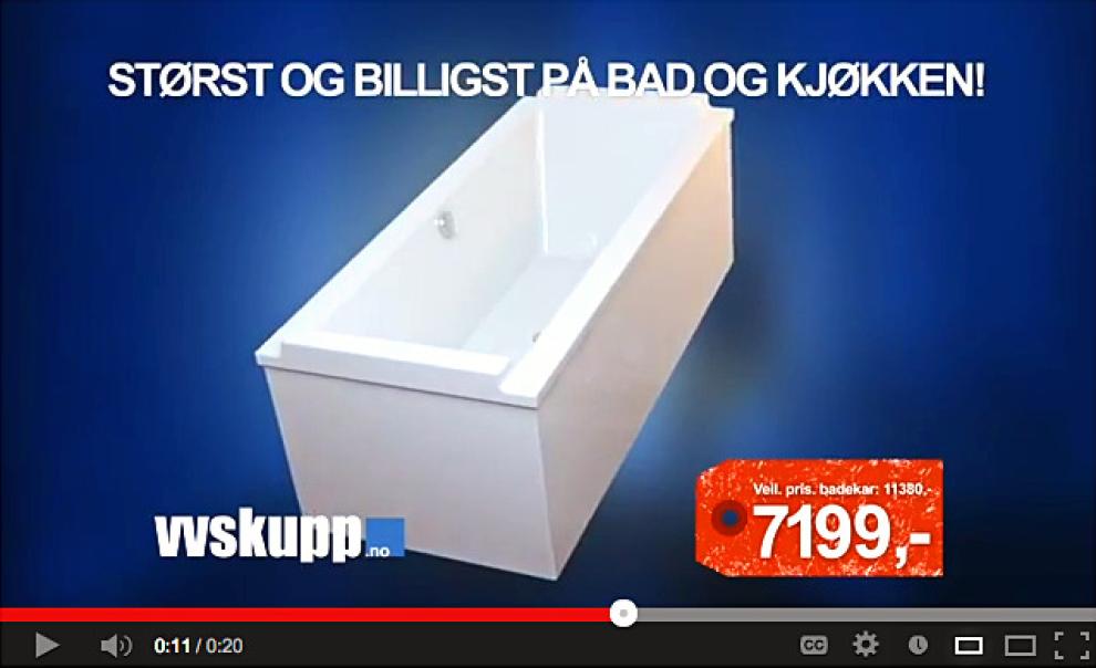 STOPPES: Denne TV-reklamen blir fra idag stoppet, bestemte Sarpsborg tingrett i går. Grunnen er udokumenterte påstander om at produktet er billigst.