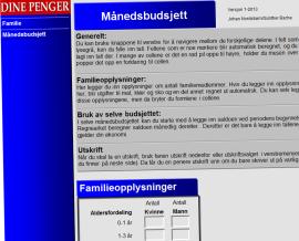 """<p><b>Planleggingshjelp:</b> I Dine Pengers budsjettmal legger du inn dine opplysninger, og får hjelp til å budsjettere for 2013.<b><a href=""""http://www.dinepenger.no/bruke/slik-faar-du-staalkontroll-paa-oekonomien-din/20315448""""><br/></a></b></p><p><b><a href=""""http://www.dinepenger.no/bruke/slik-faar-du-staalkontroll-paa-oekonomien-din/20315448"""">Du finner budsjettmalen her.</a></b><br/></p>"""