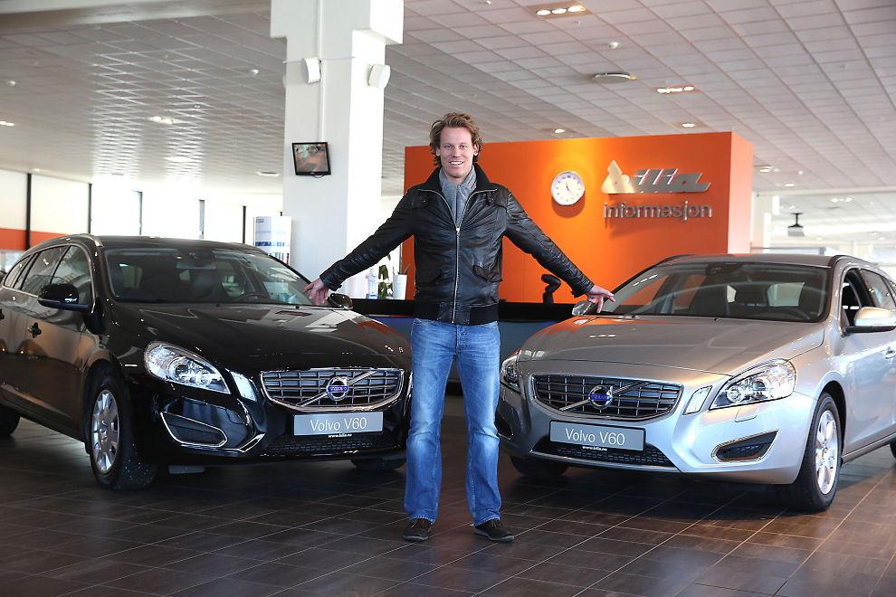 <p><b>VALGETS KVAL:</b> For Ole Underthun Johansen (31) fra Oslo vil en ny Volvo V60 D2 115 hk Kinetic være gunstigere å lease enn å eie, hvis han skal beholde bilen i tre år.</p>