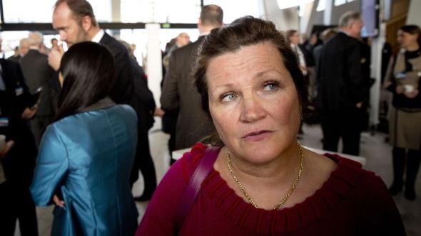 <p><b>ENDRER FORKLARING:</b>Gunn Ovesen i Innovasjon Norge forsikret først E24 om at de følger overlevelsesraten «hele tiden». Dette viser seg ikke å stemme. Her er Ovesen på NHOs årskonferanse i Operaen tidligere i år.<br/></p>