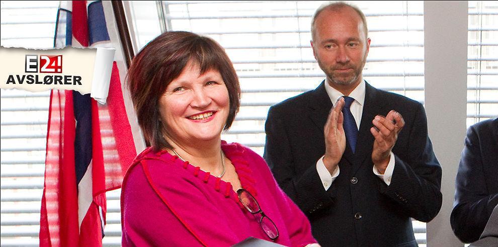 <p><b>MYE PENGER UT - MEN VET IKKE HELT TIL HVA:</b> Nærings- og handelsminister Trond Giske representerer hovedeier av Innovasjon Norge, da departementet eier 51,5 prosent av aksjene i selskapet. Her sammen med adm.dir. i Innovasjon Norge, Gunn Ovesen.</p>