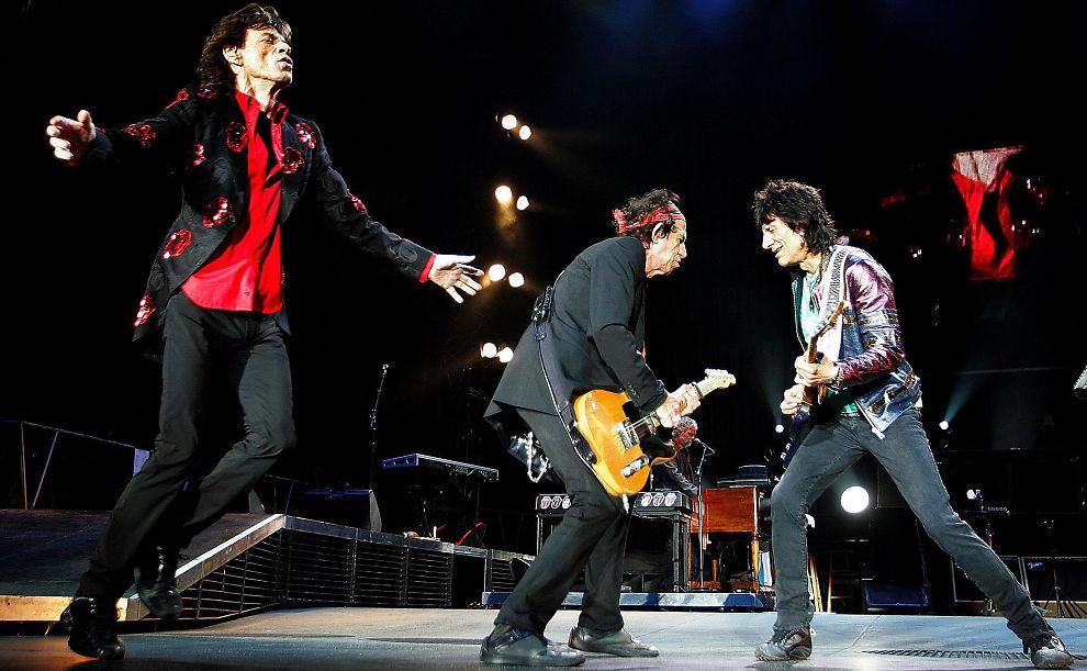 <p><b>STRIDENS EPLE:</b> Rolling Stones på scenen på Koengen i Bergen i 2006. Dette er en av konsertene Rolling Stones og deres samarbeidspartnere har kranglet med norske myndigheter om. Fra venstre: Mick Jagger, Keith Richards og Ronnie Wood.<br/></p>
