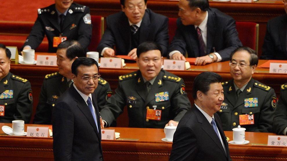 <p><b>MAKTDUOEN:</b> Det er knyttet store forventinger til hva statsminister Li Keqiang (til venstre) og president Xi Jinping (til høyre) vil kunne utrette etter at de har tatt over toppvervene i Kina. Her fra en samling i National People`s Congress i midten av mars.<br/></p>