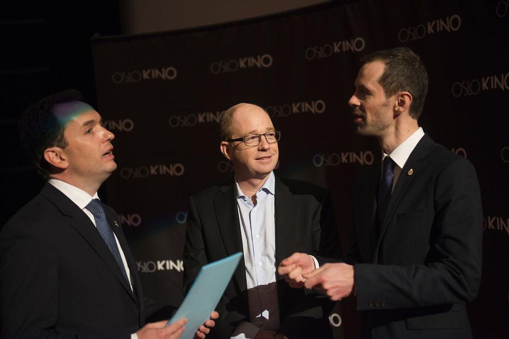 <p><b>NYE EIERE:</b> Oslo Kino selges til Danske Egmont. Oslo Kommune presenterte dette på en pressekonferanse torsdag.</p>