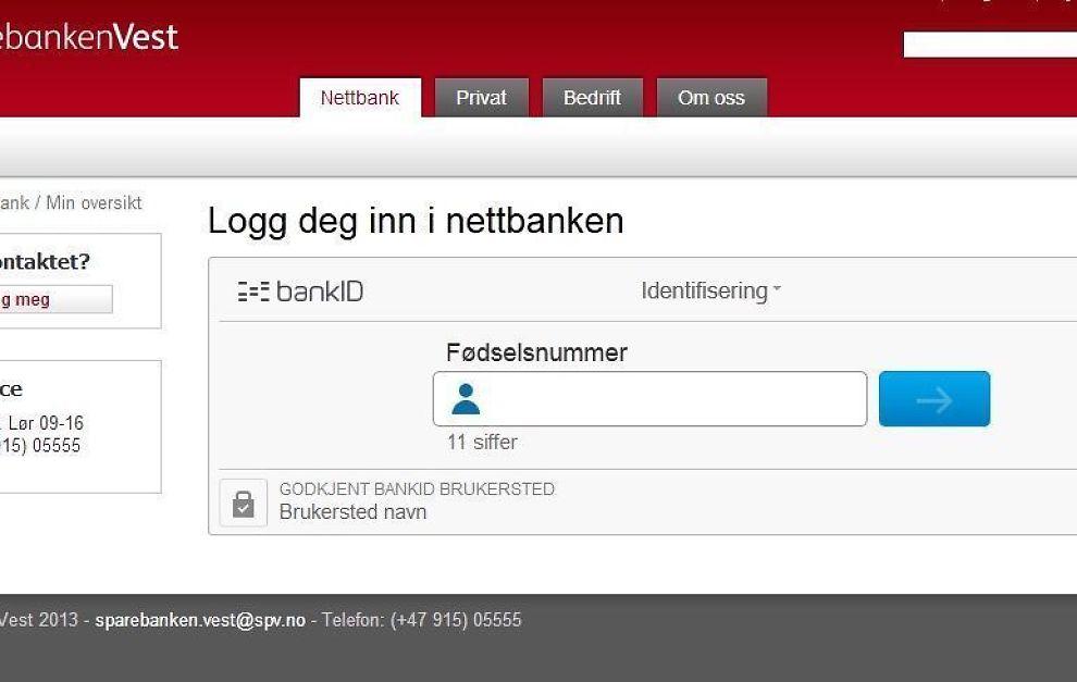 <p><b>SLIK KAN DET BLI:</b> Dette påloggingsvinduet viser den nye tretrinnsinnloggingen, hvor ikoner og tydelige felt skal vise brukerne hvor de skal skrive koder, fødselsnummer og annen informasjon som trengs for å komme inn i nettbanken. Skjermdumpen er fra en test BankID har laget.<br/></p>
