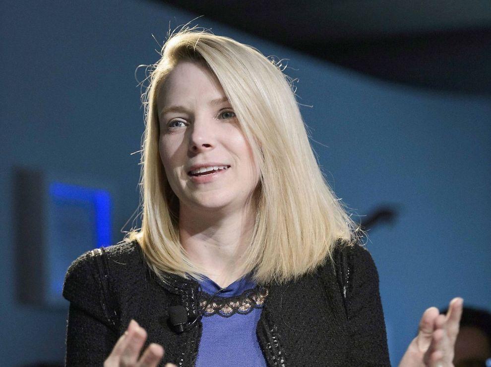 <p><b>HANDLEGLAD:</b> Konsernsjef Marissa Mayer i Yahoo skal angivelig være på selskapsshopping.<br/></p>
