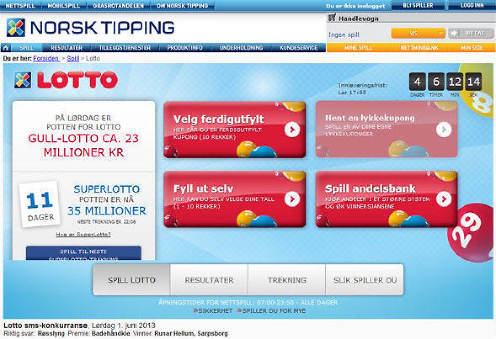 <p><b>Store gevinster:</b> Drømmen om store gevinster gjør at mange spiller på Lotto, Tipping og Rikstoto. Beløpene er betydelige, og nordmenn spiller for mye mer enn de sparer i fond.<br/></p>