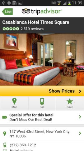 Tripadvisor gir deg brukervurderingen over hoteller, restauranter og severdigheter.