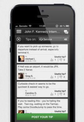 App-in-the-air er appen som ikke bare forteller om hvor flyet går fra, men gir deg gode tips på flyplassen.