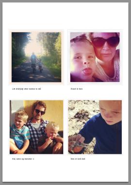 <p><b>SLIK SER DET UT:</b> Eksempel på en brevside med Instagram-bilder sendt ut av Lillygram.<br/></p>