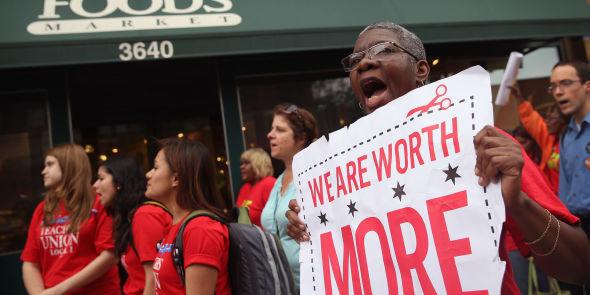 <p><b>UTBREDT:</b> De største demonstrasjonene fant sted i Chigaco, New York City, St. Louis, Detroit, Milwaukee, Kansas City and Flint, Michigan.</p>