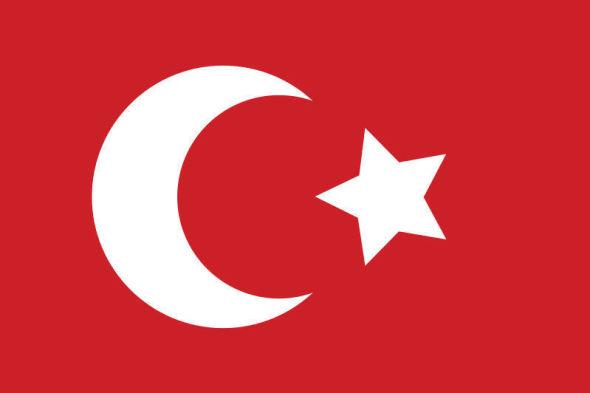 <p><b>HALVMÅNE:</b> Det ottomanske flagget slik det ble seende ut fra midt på 1800-tallet. Før dette hadde stjernen åtte armer i stedet for fem.<br/></p>