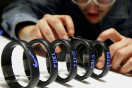 <p><b>MÅLEBÅND:</b> Nike kom i fjor med armbåndet Fuel, som måler kaloriforbrenning, skritt, antall stillesittende minutter i løpet av et døgn med mere.<br/></p>