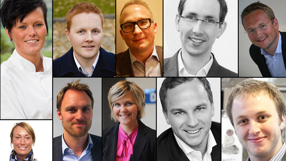 <p><b>MIDT-NORGES LEDERTALENTER:</b> Ida Elisabeth Dønheim (øverst fra venstre), Håvard Kvalheim, Jahn Erik Stenhaug, Ole Petter Bjartnes, Thomas GEving, Sophia Fossen, Yngve Tvedt, Sissel Olsen Haugmark, Åge Halvorsen og Torstein Langeland.<br/></p>