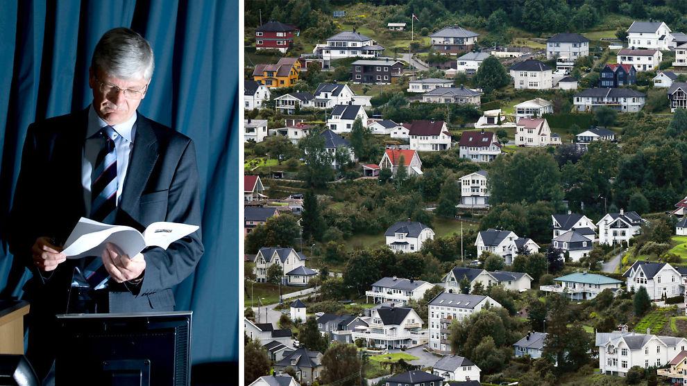 <p><b>SPÅR NEDTUR:</b> Sjeføkonom Steinar Juel i Nordea Markets tror boliger er betydelig billigere om to år. Illustrasjonsbilde fra Drammen.<br/></p>