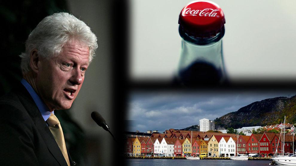 <p>FRAVAREMERKE TIL MERKEVARE: Hva har Bill Clinton, Coca Cola og Bergen til felles?<br/></p>