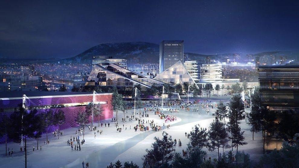 <p><b>SLIK KAN DET BLI:</b> Dette kan bli Økern olympisk landsby, hvis OL kommer til Oslo i 2022.<br/></p>