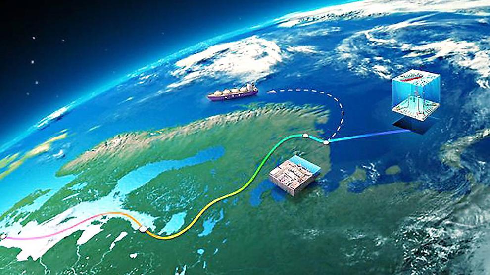 <b>VANSKELIG:</b> En flytende LNG-fabrikk på Shtokman-feltet kan være løsningen som kreves for å få ut de gigantiske gassreservene herfra. Det er likevel teknologisk og økonmisk vanskelig å få det til.