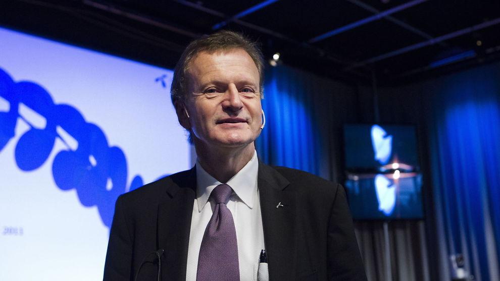<p><b>- REKORD:</b> Konsernsjef Jon Fredrik Baksaas i Telenor, kaller driftsoverskuddet i 2013 en rekord. Arkivbilde.<br/></p>