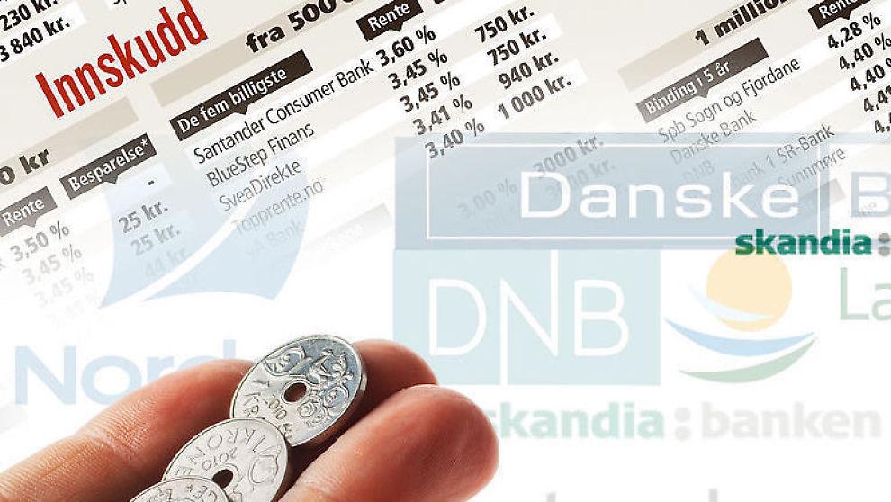 <p><b>Hver krone teller.</b> Du har mye å spare på å bytte bank, viser VG Dine Pengers ferske rentebarometer.</p>