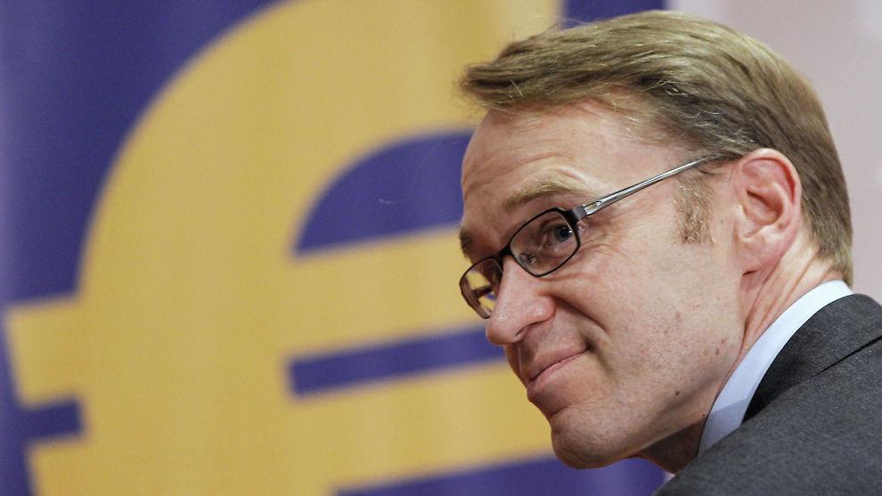 <p><b>NYE TONER?:</b> Den tyske sentralbanksjefen Jens Weidmann har uttalt seg litt mindre kategorisk om pengetrykking.</p>