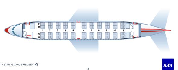 Innredningen på SAS sitt nye direktefly mellom Houston og Stavanger blir kun basert på 44business class-seter