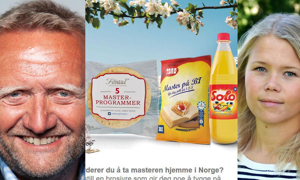 <p><b>ROSER:</b> PR-ekspert Kjell Terje Ringdal synes BI gjør riktig i å fri til hjertet og ikke hodet med lokkemat-kampanjen. ANSA-president Vibeke Munthe-Kaas tror ikke studenter flest biter på.<br/></p>