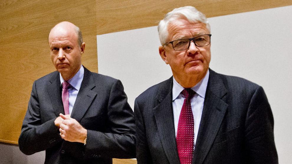 <p><b>GÅR ETTER TO ÅR:</b> Yara-styreleder Bernt Reitan (t.h.) tar ikke gjenvalg. Her med Yara-konsernsjef Jørgen Ole Haslestad (t.v.) og .<br/></p>