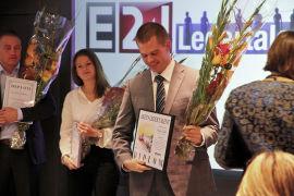 <p><b>OVERVELDET:</b> Håvard Lillebo mottok førstepremien i Ledertalentene i 2011.</p>